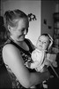 Аня и Илья (Natasha Buzina) Tags: portrait maternity family mother son home film blackandwhite ilford olympusom пленка портрет
