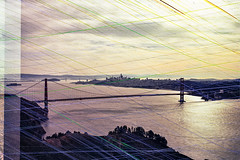 San Francisco (Alesha A.B.) Tags: landscape film analogue color doubleexposure revolog seattle sanfrancisco beach ocean trees forest plants green blue sand pnw goldengate