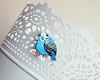 blue budgie pin brooch cute pin little bird jewelry blue parakeet pet bird brooch lace (NikMaria) Tags: budgie bluebudgie cutebudgie petbird handmadebird lapelpin pinbrooch parakeetpin handpaintedpin polymerclay petlovergift