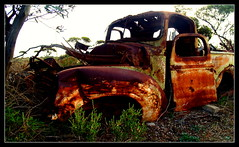 The Ute (bushman58929) Tags: rusty crusty australia bushman58929 travel photographer image outback olympus digital abandoned wrecks cars