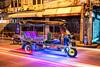 Technicolor Tuk-tuk (Matt Molloy) Tags: mattmolloy photography night light trails colourful tuktuk rickshaw trike tricycle shops road street sidewalk graffiti city sathon bangkok thailand lovelife