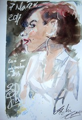 Watercolor. Portrait in situ (Félix Tamayo) Tags: portrait portraitinsitu watercolor retrato acuarela