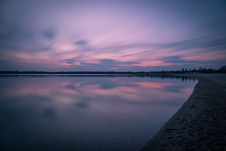 Calm evening at the lake