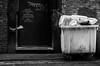 Northern Quarter, Manchester(34) (S.R.Murphy) Tags: fujixt2 jan2018 manchester northernquarter socialdocumentary street streetphotography pigeon bw bnw monochrome fujifilmxt2 bird backstreet rubbish garbage
