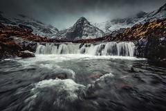 M O O D - P O O L S (elganjones1) Tags: fairy pools skye scotland moody waterfall mountain