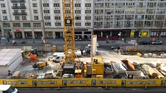 Construction Site (ThomasKohler) Tags: construction buildingsite baustelle berlin unterdenlinden implenia baufirma bauunternehmen bauarbeiter kran crane bauzaun baukran constructioncompany