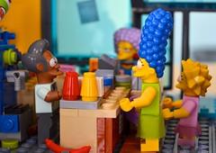 Kwik-E Mart Grand Opening (linda_lou2) Tags: 365the2018edition 3652018 day95365 05apr18 95365 365toyproject april2018 lego simpsons kwikemart minifigure minifig apu margesimpson lisasimpson selma