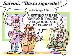 """SalviNicotina (Moise-Creativo Galattico) Tags: editoriali moise moiseditoriali """"editorialiafumetti"""" giornalismo attualità satira vignette salvini sigarette"""