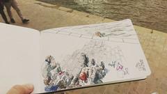 Relax sur les quais de Seine, Paris, Sully Morland (velt.mathieu) Tags: paris seine sketch croquis people