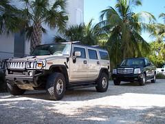 2003 Hummer H2 (amm6587) Tags: car auto nikon florida keywest key west truck suv hummer h2 cadillac escalade ext