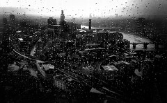 Rainy days (Zara.B) Tags: bw blackandwhite rain viewfromtheshard london mobilephonecamera