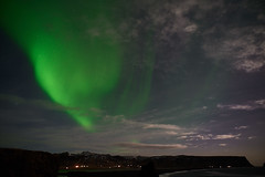 Kirkjufjara_aurora_L1090468 (nocklebeast) Tags: auroraborealis iceland kirkjufjarabeach nrd aurora stars ocean beach vik southcoast
