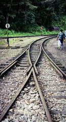 Intersecting Tracks (benjamin.t.kemp) Tags: colour coloursinourworld tracks lines intersect intersection train path travel latinamerica peru rail railroad