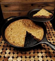 Chocolate Chip Pizookie (IrishMomLuvs2Bake) Tags: cookie chocolatechip pizookie castironpans 10ingiantcookie sweets dessert thelonebaker chocolate food baking