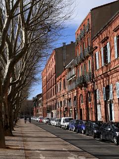 Piste cyclable au Quai Lucien Lombart - Toulouse