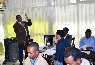 Asrat Tera, Governer, Wolayta zone Administration, Ethiopia making remarks at the workshop