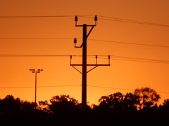 Golden Telegraph (mikecogh) Tags: portaugusta sunset bright golden glow telegraphpole wires electricity silhouette