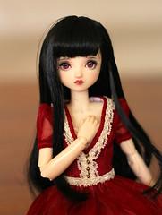 Vampire girl (Nina's Doll *MAKEUP COMMISSION CLOSED*) Tags: doll head repaint repainted ooak obitsu 24 cm makeup faceup 16