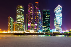 Night Towers (gubanov77) Tags: moscow russia moscowcity night architecture artdeco buildings businesscenter business capital city cityscape color design lighting longexposure moskvariver nightlight nightlife outdoor skyline streetscape street towers tower urban москвасити москва moscowphotography