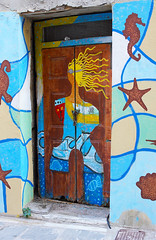 minoan mermaid (murtica27) Tags: greece griechenland hellas crete kreta criti isle insel medideran maritim see meer ocean outdoor door doors türen architecture rhethymno rhethymnon vacation travel europe south sun blue sony alpha drausen ferien reise mittelmeer
