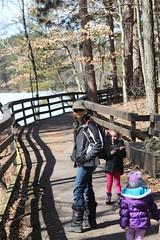 Walking at Mirror Lake - 8 (Keppyslinger) Tags: wisconsin nature mirrorlake woods family tree walkingwithdad amy daughter