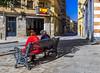 Spain (77/365) (Walimai.photo) Tags: bandera spain españa color colour street calle candid retrato couple pareja banco bench salamanca panasonic lx5 lumix calledelrosario