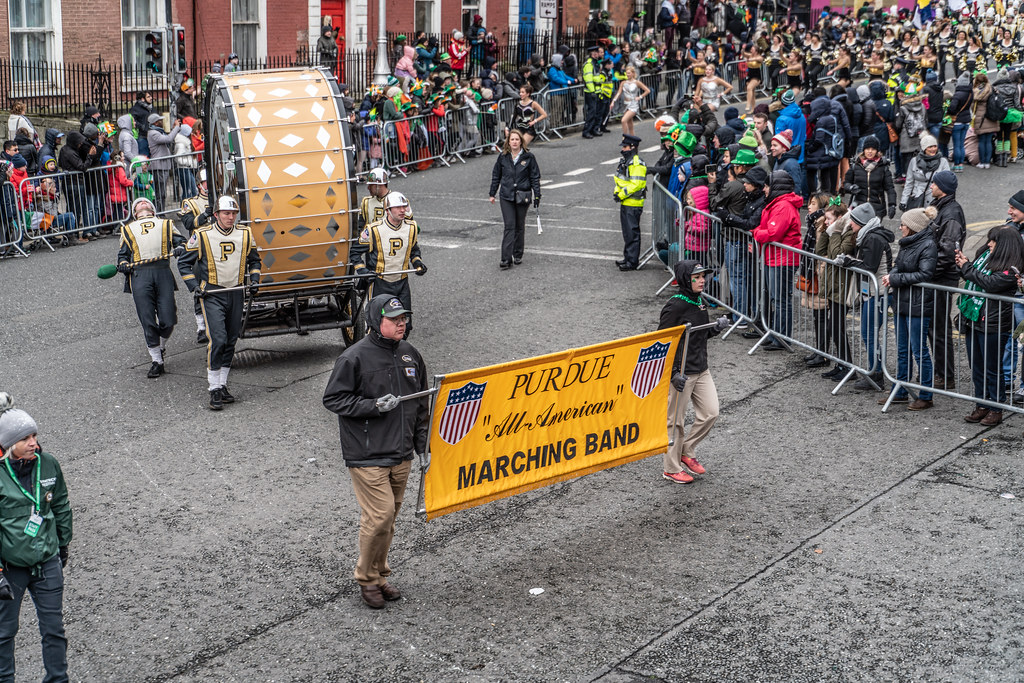 PURDUE ALL AMERICAN MARCHING BAND [DUBLIN PARADE 17 MARCH 2018]-137677