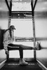 MRGRT-6 (qauqe) Tags: nike air force 1 af1 street urban jjstreet dance company hip hop hiphop house nikon d40 white locks portrait woman girl teenager tallinn estonia elevator stairway photography black bw graffiti stretshopone classics camo cityscape skyscraper