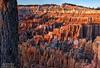 Golden Hour Sunshine on the Red Sandstone Pinnacles and Hoodoos, Bryce Canyon (PhotosToArtByMike) Tags: sunrisepoint brycecanyonnationalpark redhoodoos hoodoos goldenhour dawn rockspires brycecanyon utah ut redsandstonepinnacles bryce limestone erosion scenic canyon landscape