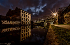 The Old Mill (peterwilson71) Tags: canal water reflections mill railway graffiti arcitecture arch abandoned bridge buildings canon6d clouds city dark decay downtown exposure flow grass green industrial industry lights longexposure light night sunset skys travel outdoors view yorkshire leeds