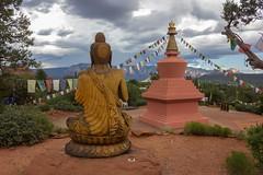 Pray 1 (TanmayThakur) Tags: pray gautam budhdha buddhism mandala temple cloudy red desert arizona az sedona addingcolorstopixels tanmaythakurcom tanmaythakur