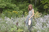 Summer Dreams (marylee.agnew) Tags: red hair flowers dress self summer warm sun woman lace boots