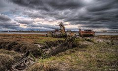 Corpses of 3 wrecked boats (Dave2638) Tags: lytham fleetwood lythamstannes lancashire