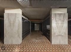 Black Money (_NeQo_) Tags: abandoned architecture 70s belgium decayed derelict dust exploring forgotten neglected bank olympus room symmetry carpet ngc