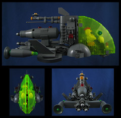 Captain Cluck Codgers (Karf Oohlu) Tags: lego moc scifi chicken chickenguy spaceship eggs