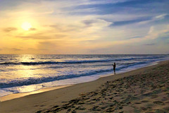 Fisherman on Carlsbad State Beach shortly before sunset (Remember To Breathe) Tags: beach sunset socal southerncalifornia northcounty sandiego fisherman colorful pacific ocean california unitedstates beacheslandscapes landscape beaches