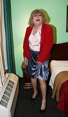 new142070-IMG_0296t (Misscherieamor) Tags: transvestite sissy crossdress tgirl transgender travestis travestie travesti tranny tv ts cd tg m2f tgurl gurl mature xdresser feminine femme transformation travestido travestit travestito traviesa transwoman showingslip pleatskirt silkbowblouse suedejacket motel