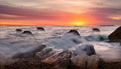 Sunrise at sea. (Massetti Fabrizio) Tags: seascape sun sunrise sunlight sunset sea landscape landscapes light marche italia nikond4s nikon 2470f28