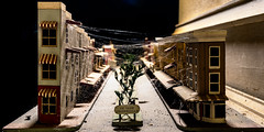 The Decay of Small Town America (Jeff Rowton) Tags: abandonment abandoned derelect decay smalltown cobwebs spiderweb diorama old mantle dust model