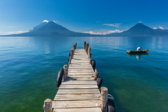 Pier at Lake Atitlan in Guatemala (tvrdypavel) Tags: adventure america atitlan bay blue central clouds crater culture expedition guatemala highland indian lake landscape mayan nature palm panorama paradise peace pedro relaxing san santiago scenery scenic serenity silent sky toliman tourism travel view volcanic volcano vulcano water wilderness wildlife woman