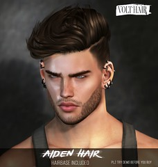 Aiden hair (✪Tabou✪Volthair owɴer) Tags: sl hair mesh mancave original event new
