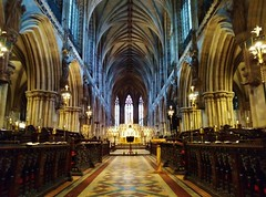 In the Quire (Sundornvic) Tags: cathedral church vaulting arches architecture ancient worship pews seats ceiling
