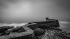 St Monans (avaird44) Tags: harbour wall breakwater bw black white monochrome stmonans fife scotland sea rocks