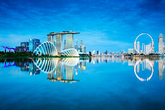 Singapore city skyline (Patrick Foto ;)) Tags: architecture asia asian background bay blue building business center central city cityscape commercial district downtown dusk evening exterior famous finance financial illuminated landmark landscape light marina metropolis modern morning night outdoors reflection river riverside sea singapore sky skyline skyscraper southeast structure tourism tower town travel twilight urban water waterfront wheel sg