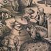 BRUEGEL Pieter I,1557 - Superbia, l'Orgueil-detail 29a-Burin de Pieter van der Heyden (Custodia)