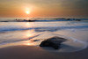 Hua Hin Sunrise (burrills) Tags: lighthouse sand sunrise water vacation holiday rocks sun beach ocean warmorange sea landscape personal sky waves family landscapephotography huahin thailand