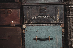 Journey ahead (V Photography and Art) Tags: luggage vintage old travelling journey trunk leather