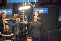 Stephen Hendry getting miced up (zawtowers) Tags: world snooker championship 2018 betfred crucible theatre sheffield thehomeofsnooker second round monday 30th april stephen hendry legend seven times champion miced up ready bbc2