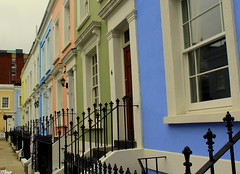 This colorful district (Fleur Vintage) Tags: notting hill london uk england travel colroful beauty streetphotography loveatfirstsight europ explorer life journey simplicity girlphotographer
