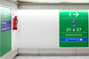 Orly Sud - Vert (Christophe Rettien) Tags: limegreen france greencolors signage iledefrance europe orly airport arrow rightarrow extinguisher numbers wall directions